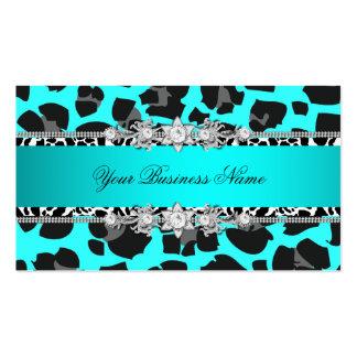 Imagem azul do olhar da jóia do preto do animal se cartão de visita