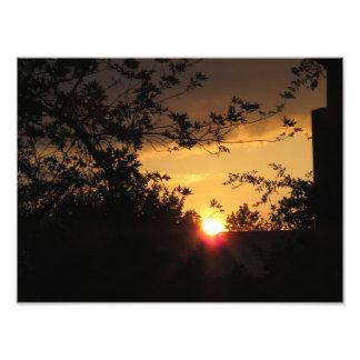 Imagem bonita do por do sol impressão de foto