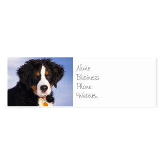 Imagem bonito do filhote de cachorro do cão de mon modelos cartoes de visita