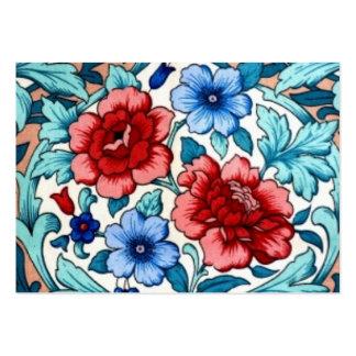 imagem com flores cartão de visita grande