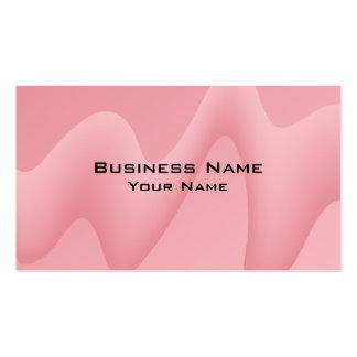 Imagem cor-de-rosa do abstrato da onda cartão de visita