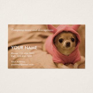 Imagem da chihuahua bonito cartão de visitas