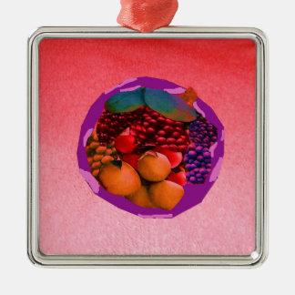 imagem da comida de gtapes3.JPG para cozinhas, Ornamento Quadrado Cor Prata