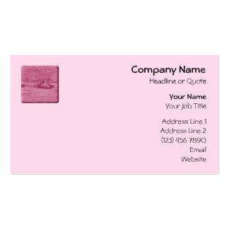 Imagem da madeira cor-de-rosa cartão de visita