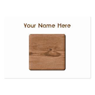 Imagem da madeira de Brown Cartão De Visita Grande