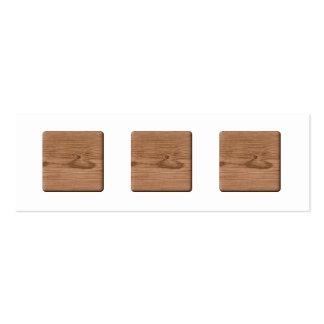 Imagem da madeira de Brown Cartão De Visita Skinny