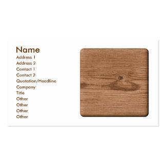 Imagem da madeira de Brown Modelos Cartões De Visitas