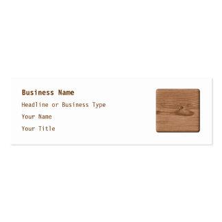Imagem da madeira de Brown Modelo Cartões De Visitas