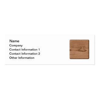 Imagem da madeira de Brown Cartao De Visita