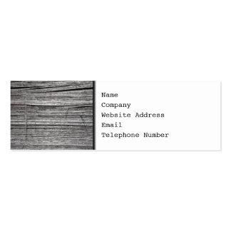 Imagem da madeira de lasca velha cartão de visita skinny