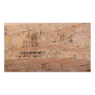 Imagem da madeira lançada costa cartão de visita