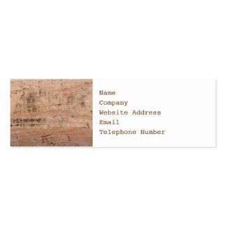 Imagem da madeira lançada costa cartão de visita skinny