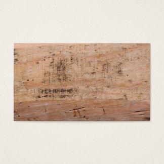 Imagem da madeira lançada costa cartão de visitas