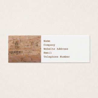 Imagem da madeira lançada costa cartão de visitas mini