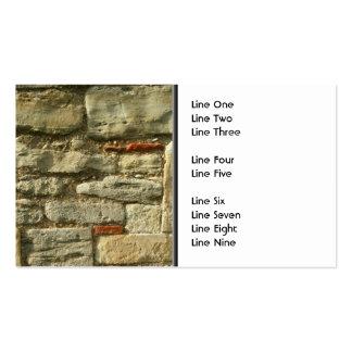 Imagem da parede de pedra cartão de visita