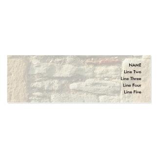 Imagem da parede de pedra cartão de visita skinny