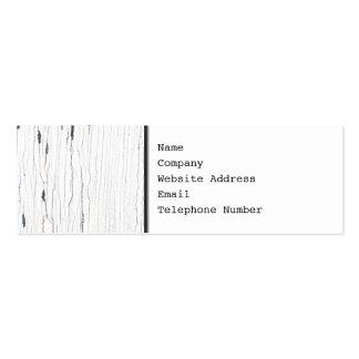 Imagem da pintura rachada branca cartão de visita skinny