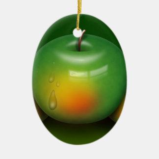 Imagem de Apple Ornamento De Cerâmica Oval