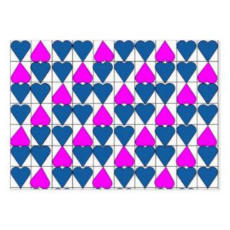 imagem de corações cartão de visita grande