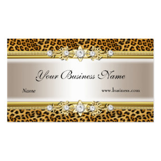 Imagem de creme do olhar da jóia do preto do leopa cartão de visita