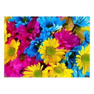 imagem de flores cartão de visita grande