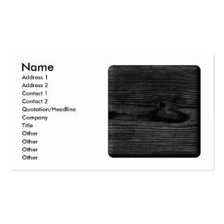 Imagem de madeira preta cartão de visita