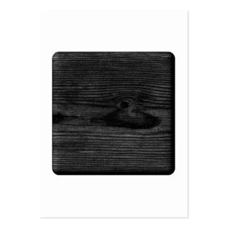 Imagem de madeira preta cartão de visita grande
