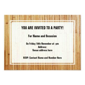 Imagem de partes de madeira envernizadas convites personalizado