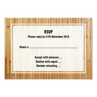 Imagem de partes de madeira envernizadas convite personalizados