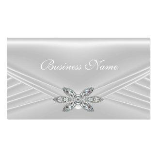 Imagem de prata branca elegante do diamante cartão de visita