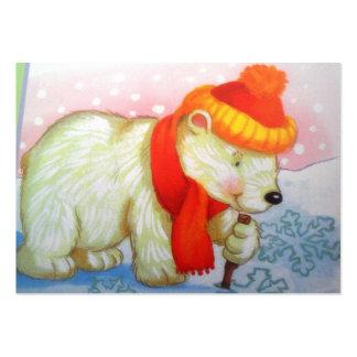 imagem de urso cartoes de visitas