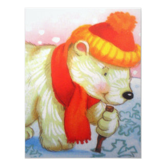 imagem de urso convite 10.79 x 13.97cm