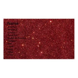 Imagem do brilho vermelho na moda cartão de visita
