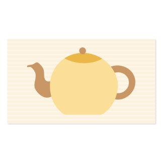 Imagem do bule em cores neutras cartão de visita