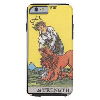 imagem do cartão da força do tarot capa tough para iPhone 6