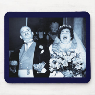 Imagem do casamento vintage - casal feliz (Cyanoty Mousepad