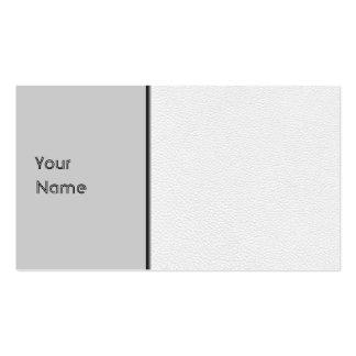 Imagem do couro branco cartão de visita