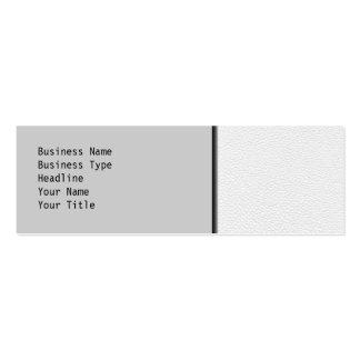 Imagem do couro branco cartão de visita skinny