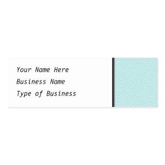Imagem do couro claro de turquesa cartão de visita skinny