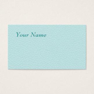 Imagem do couro claro de turquesa cartão de visitas