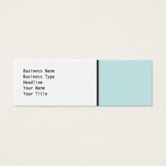 Imagem do couro claro de turquesa cartão de visitas mini