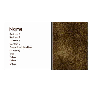 Imagem do couro de Brown Cartão De Visita