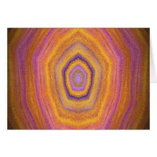 imagem do design do caleidoscópio cartão comemorativo