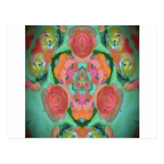 imagem do design do caleidoscópio cartão postal