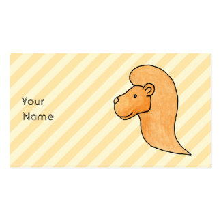 Imagem do leão com listras modelo cartão de visita