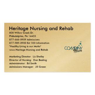 Imagem do logotipo, cuidados da herança e… - cartão de visita