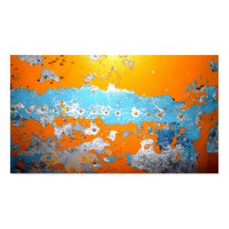 Imagem do metal e da pintura lascada cartão de visita