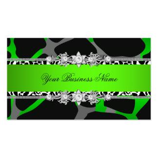 Imagem do olhar da jóia do preto do animal selvage cartão de visita
