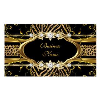 Imagem do olhar da jóia do preto do leopardo da cartão de visita