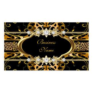 Imagem do olhar da jóia do preto do leopardo do ou cartão de visita